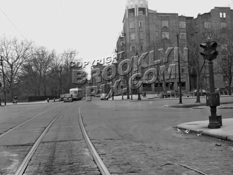 Sea Breeze Avenue looking west to Ocean Parkway / Surf Avenue, 1947 Old Vintage Photos and Images