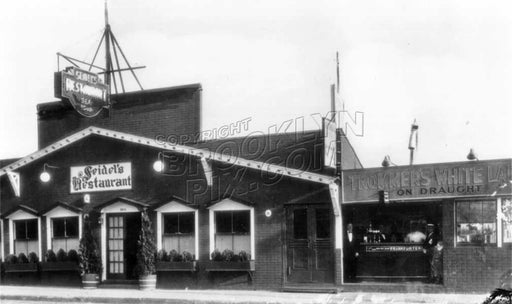 Seidel's Restaurant at 2214 Emmons Avenue, on the bay, c.1940 Old Vintage Photos and Images