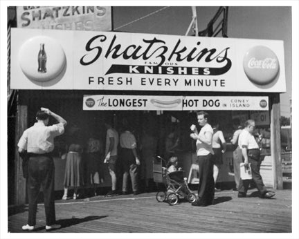 Shatzkins Famous Knishes Old Vintage Photos and Images