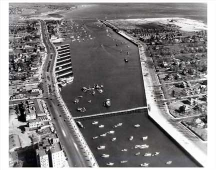 Aerial view of Sheepshead Bay Brooklyn NY Old Vintage Photos and Images