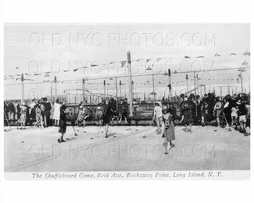 Shuffleboard Breezy Point Rockaway LI Queens 1920 Old Vintage Photos and Images