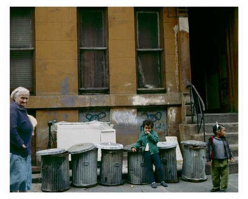 Sidewalk Scenes in Hells Kitchen 1964 - Midtown West  - Manhattan Old Vintage Photos and Images