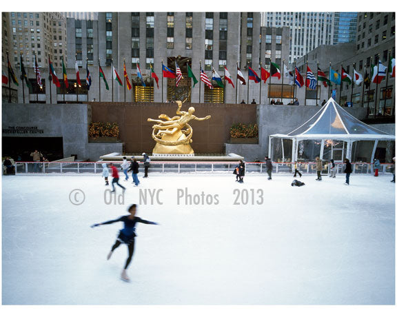 Skating at Rockefeller Plaza Old Vintage Photos and Images