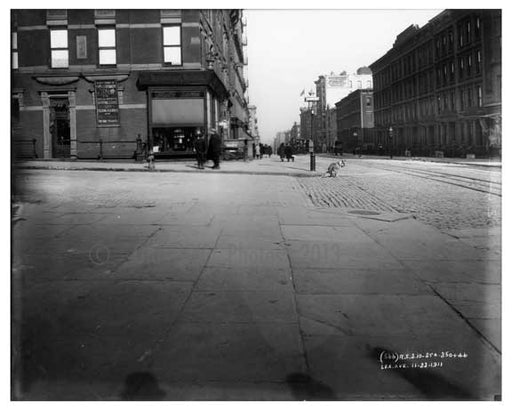 Somebody forgot to curb their dog on the corner of Lexington Avenue & 83rd Street  1911 - Upper East Side, Manhattan - NYC I Old Vintage Photos and Images