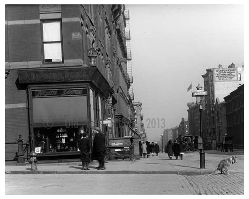Somebody forgot to curb their dog on the corner of Lexington Avenue & 83rd Street  1911 - Upper East Side, Manhattan - NYC II Old Vintage Photos and Images