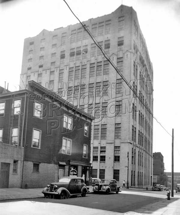 South 1st Street west to Wythe Avenue showing Fulton Bag Cotton Mills Building, 1940 Old Vintage Photos and Images