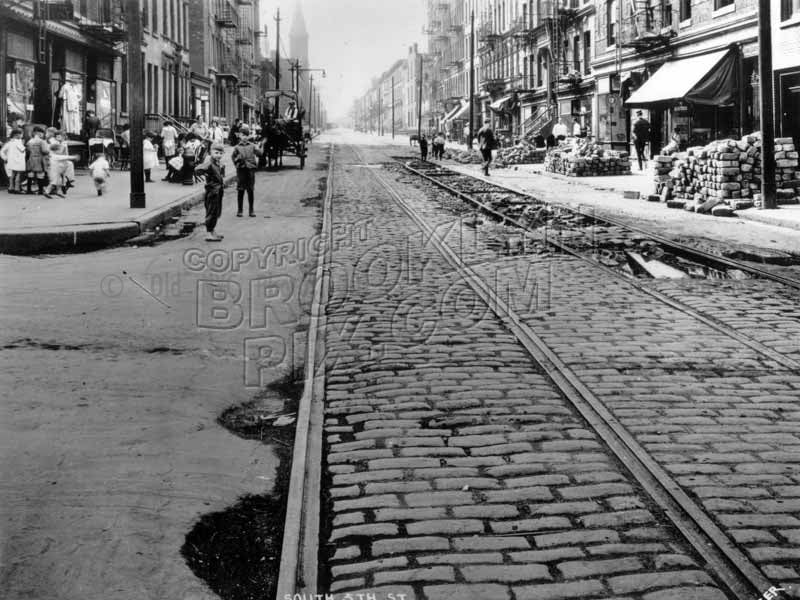 South 5th Street looking west from Hooper Street, 1923 Old Vintage Photos and Images