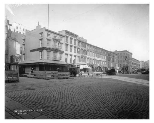 Southeast Corner of 4th Avenue & 27th Street Gramercy Park, Manhattan, NY 1900 Old Vintage Photos and Images