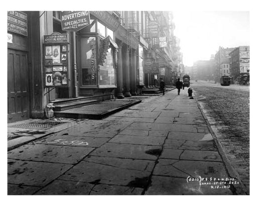 Spring Street  1912 - Soho Downtown Manhattan NYC Old Vintage Photos and Images