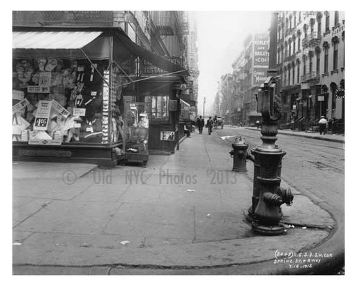 Spring Street & Broadway  1912 - Soho Downtown Manhattan NYC A Old Vintage Photos and Images