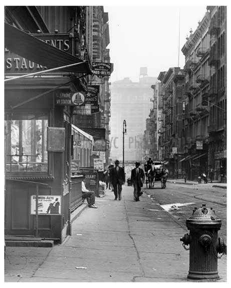 Spring Street & Broadway  1912 - Soho Downtown Manhattan NYC B Old Vintage Photos and Images