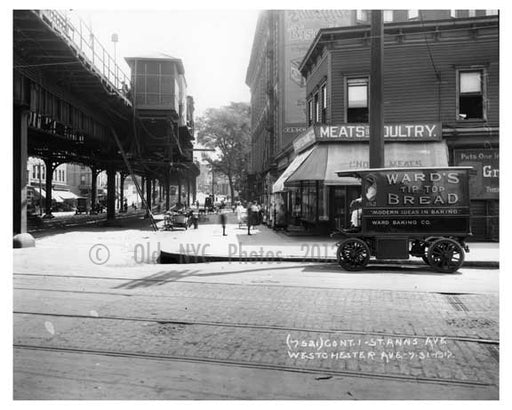 St. Ann's & Westchester Ave - Bronx, NY  1917 Old Vintage Photos and Images