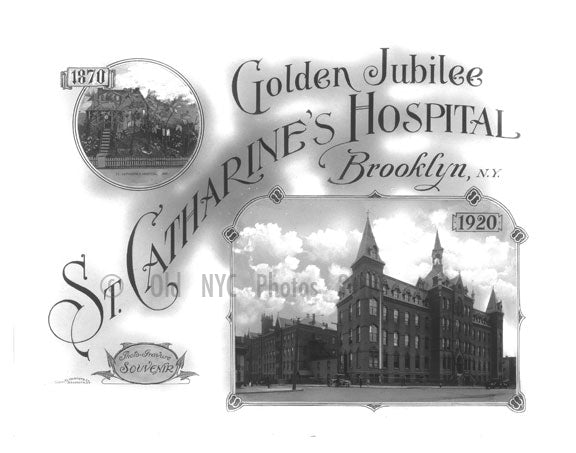 St. Catherines Hospital 50th Anniversery poster Old Vintage Photos and Images