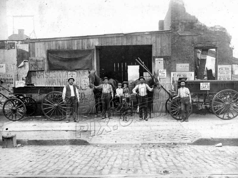 Stable at 578 Flushing Avenue, 1900 Old Vintage Photos and Images