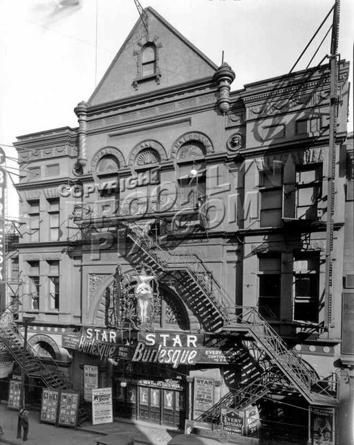 Star Burlesque Theater, 391-393 Jay Street, between Willoughby and Fulton Streets, 1928 Old Vintage Photos and Images
