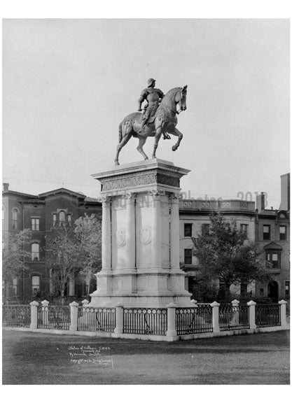 Statue of Colleoni Newark NJ 1917 Old Vintage Photos and Images