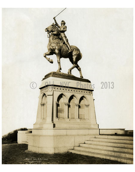 Statue of Joan of Arc - Riverside Drive NYC  1917 Old Vintage Photos and Images
