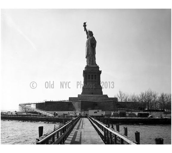 Statue of Liberty - left side view looking southwest 1984 Old Vintage Photos and Images