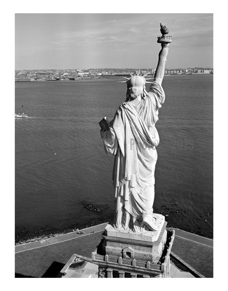 Statue of Liberty - view from behind - looking southeast Old Vintage Photos and Images
