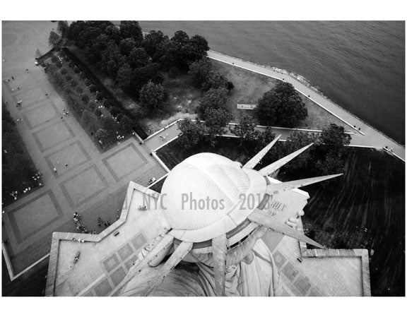 Statue of Liberty - view from the Torch looking down at the crown Old Vintage Photos and Images