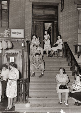 Stoop Scene Carroll Gardens Brooklyn 1948 Old Vintage Photos and Images
