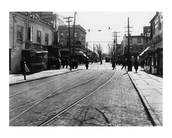 Street Scene - Jamaica  - Queens NY Old Vintage Photos and Images