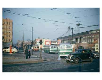Street Scene with Ebbets Field - Flatbush Brooklyn NY Old Vintage Photos and Images