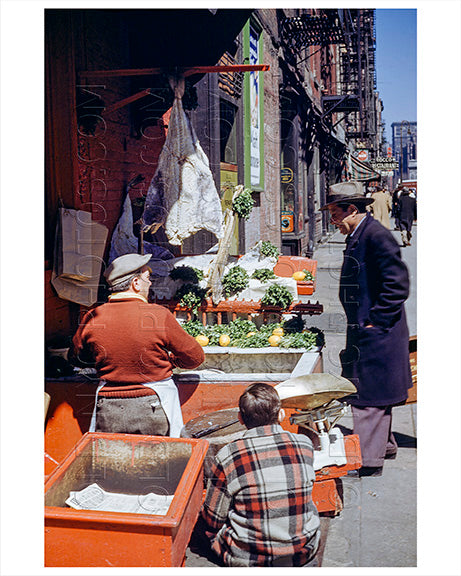 Street Vendors at Thompsons Street North from Houston Street 1940s Old Vintage Photos and Images