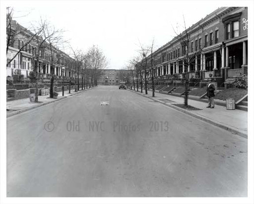 Street view of a quiet Windsor Terrace Brooklyn NY Old Vintage Photos and Images