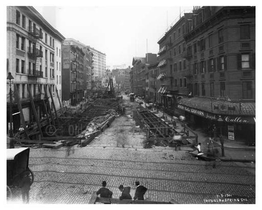 Street view of Elm & Spring Sts. - Soho - New York, NY 1901 Old Vintage Photos and Images