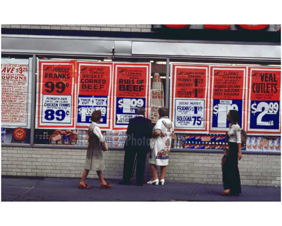 Supermarket Scenes in the 1970's - Brooklyn NY Old Vintage Photos and Images
