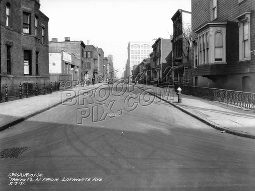 Taaffe Place north from Lafayette Avenue, 1931 Old Vintage Photos and Images