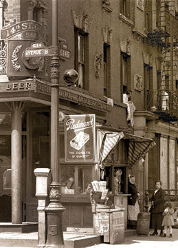 Tavern at #542 East 14th St. Corner of Av. B Manhattan 1918 Old Vintage Photos and Images