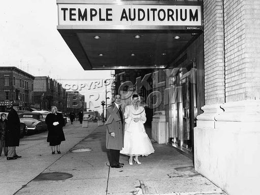 Temple Auditorium Catering Hall, 251 Rochester Avenue, c.1948 Old Vintage Photos and Images