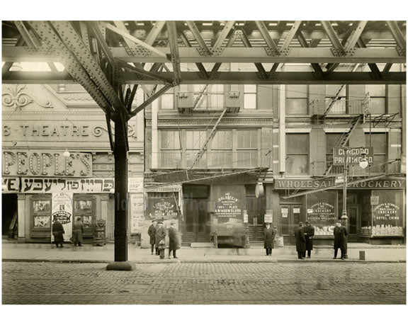The Bowery - between Rivington & Delancey  1915 Old Vintage Photos and Images