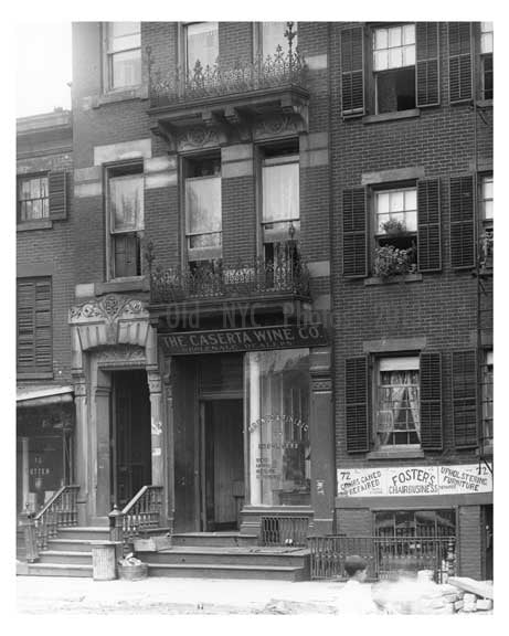"""The Caserta Wine Co."" Grove Street - Greenwich Village - Manhattan - NYC 1914 Old Vintage Photos and Images"