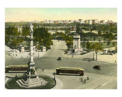 The Circle - Columbus & Maine Monument - New York, NY Old Vintage Photos and Images