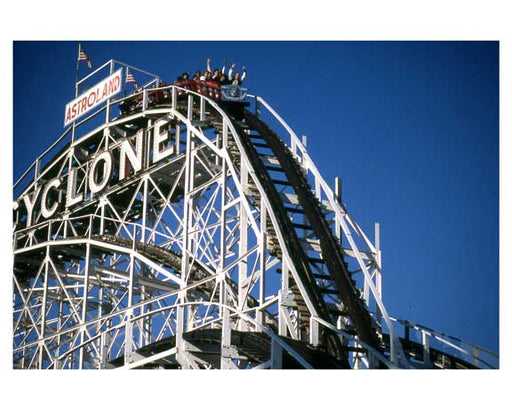 The Cyclone at Coney Island 1988-89 Brooklyn, NY Old Vintage Photos and Images