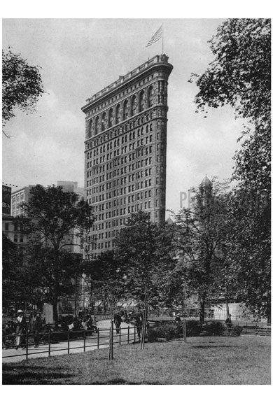The Flatiron building from Madison Square Old Vintage Photos and Images