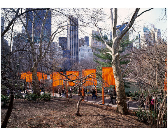 The Gates' a site - specific work of art by Christo & Jeanne-Claude in Central Park Old Vintage Photos and Images