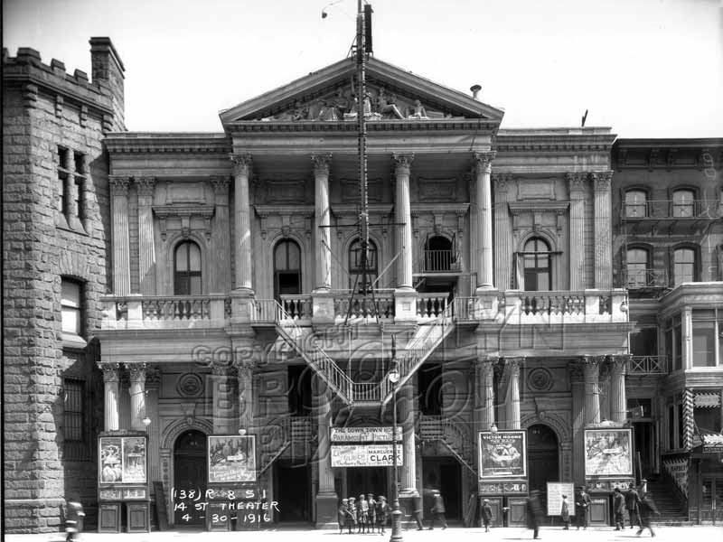 The old 14th Street theater, 1916 Old Vintage Photos and Images
