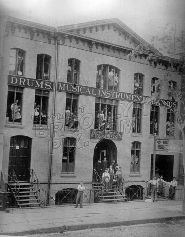 The original Fred. Gretsch Music Factory, Williamsburg, c.1890. Photo courtesy Fred Gretsch Old Vintage Photos and Images