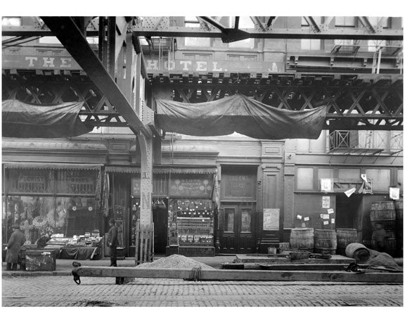 The Owl Hotel - Bowery - between Grand & Hester Street 1915 Old Vintage Photos and Images