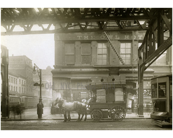 """The Owl Hotel"" Bowery - east side - at Grand Street 1916 Old Vintage Photos and Images"