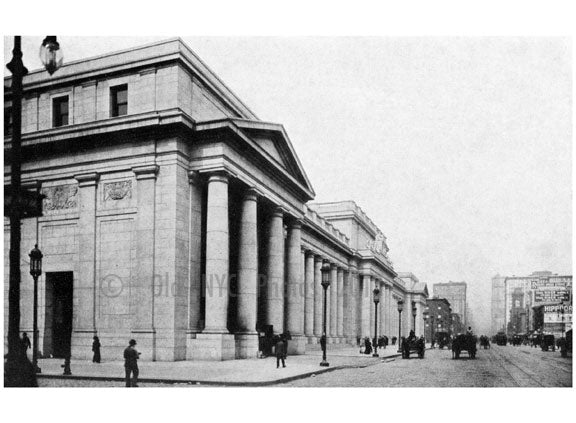 The Pennsylvania Station - 7th Avenue facade- looking north Old Vintage Photos and Images