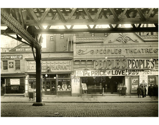 """The People Theater"" between Rivington & Delancey 1916 Old Vintage Photos and Images"