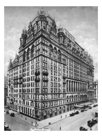 The Waldorf Astoria - 5th Avenue & 34th Street Old Vintage Photos and Images