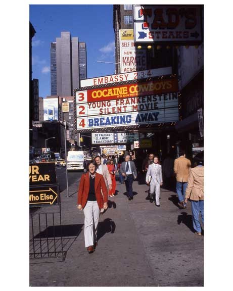 Theaters 1970s Times Square X21 Old Vintage Photos and Images
