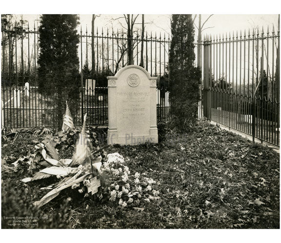 Theodore Roosevelt's Grave - Oyster Bay, L.I. Old Vintage Photos and Images