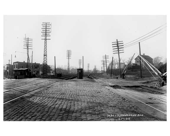 Thompson Ave LIRR Station - Long Island City - Queens NY Old Vintage Photos and Images
